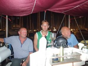 Magnus, Affe och Christer i Searoocos sittbrunn
