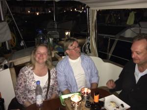 Gitte och Raymond på besök