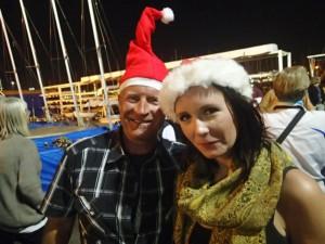 Magnus och Mathilda på julafton