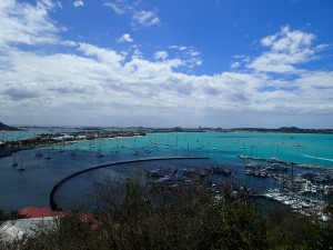 Utsikt över Marigot Bay