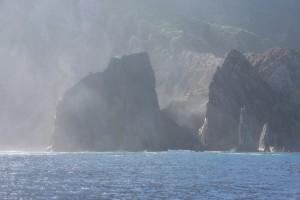 Vi lämnar Saba i sjörök