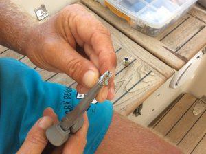 Magnus gör fiskestopp till vårt saltvattenintag