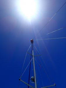 Silke i masttoppen på Ocean Maiden