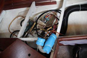 Tillfällig placering av kärlet innan det togs bort och ersattes av ett ventilpaket